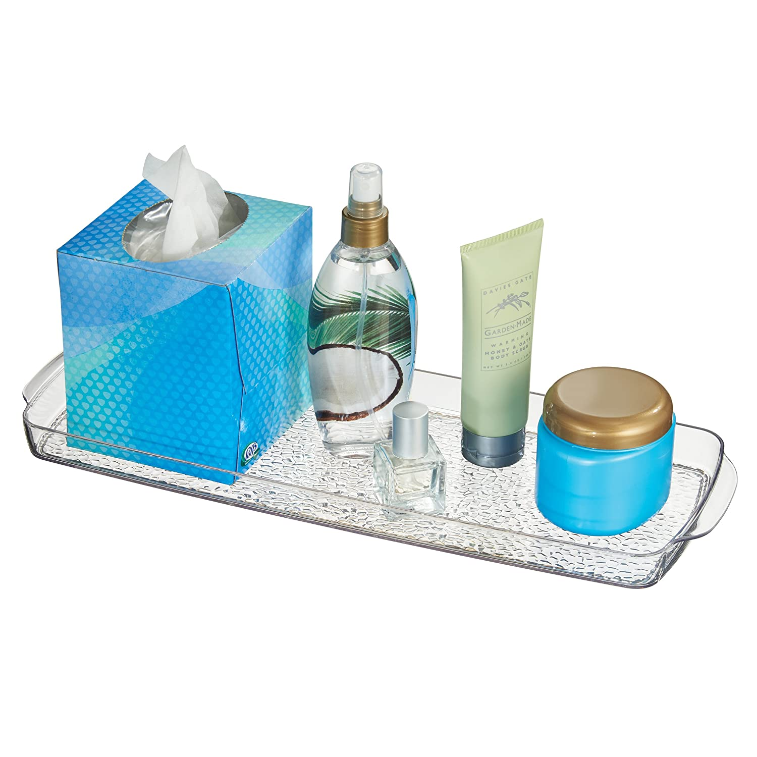 Amazon.com: mDesign Bathroom Countertop or Toilet Tank Storage Tray ...