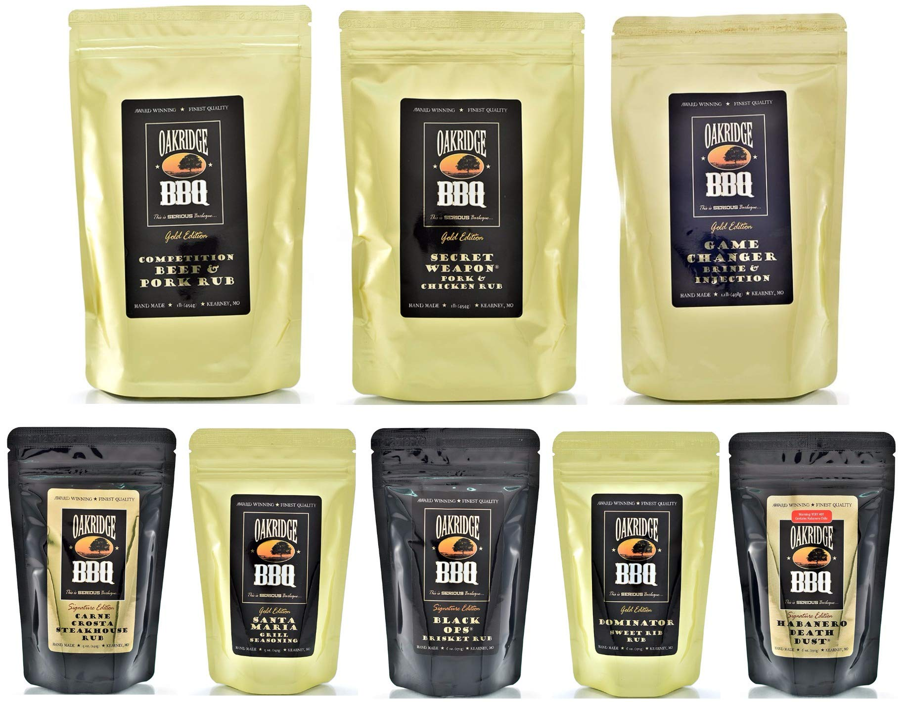 Oakridge BBQ The Ultimate Back Yard BarBQ Kit - Contains Eight (8) of the Most Popular Barbeque Rubs and Seasonings by Oakridge BBQ (Image #9)