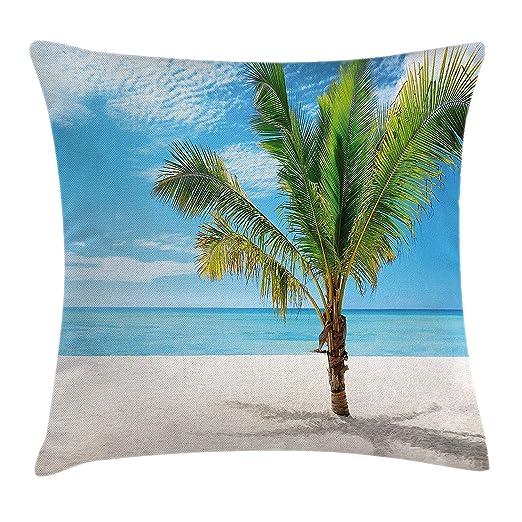 Jxrodekz Cubierta de cojín Tropical de Almohada, Playa ...