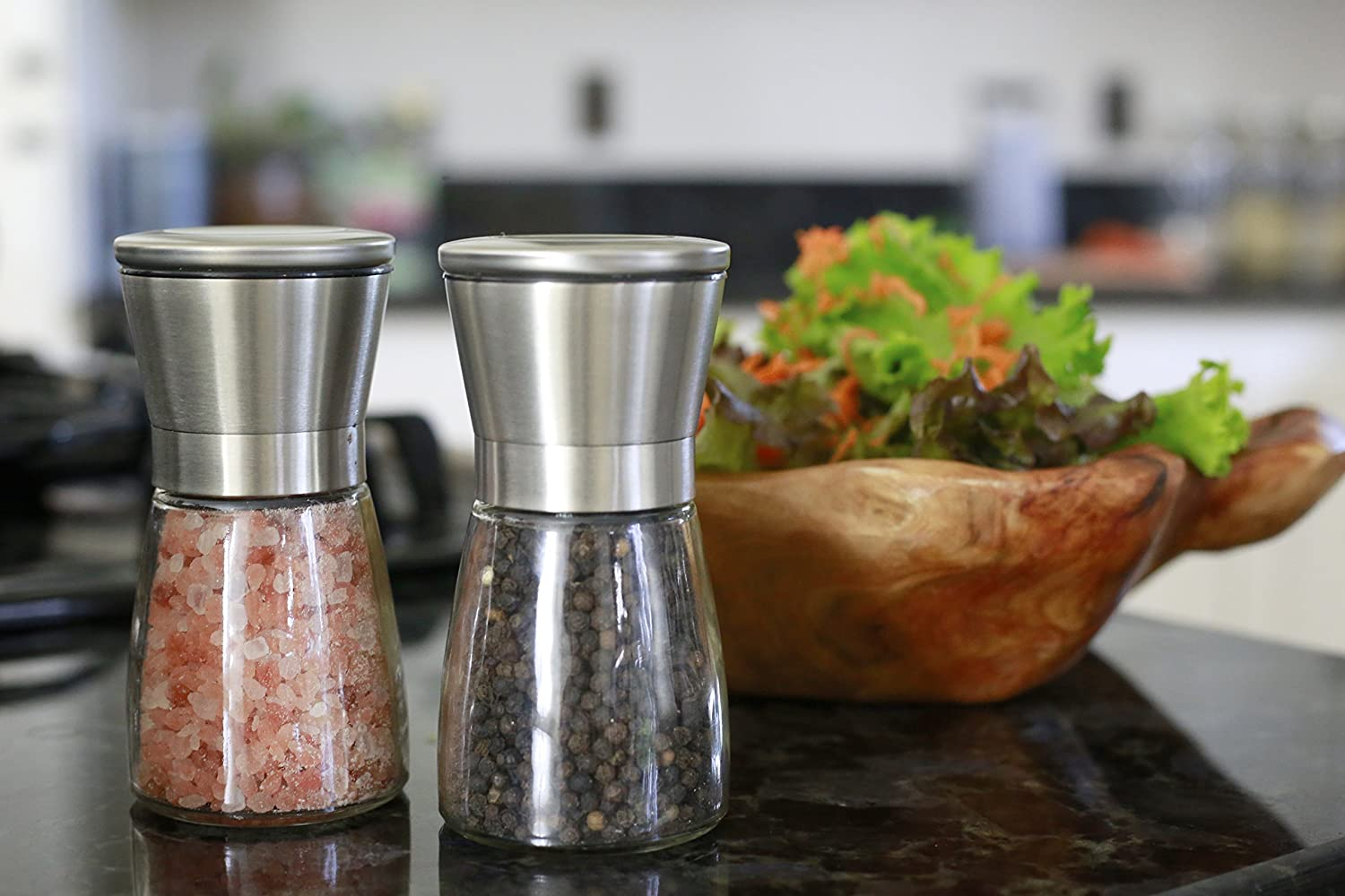 Salt and Pepper Grinder Set wi...