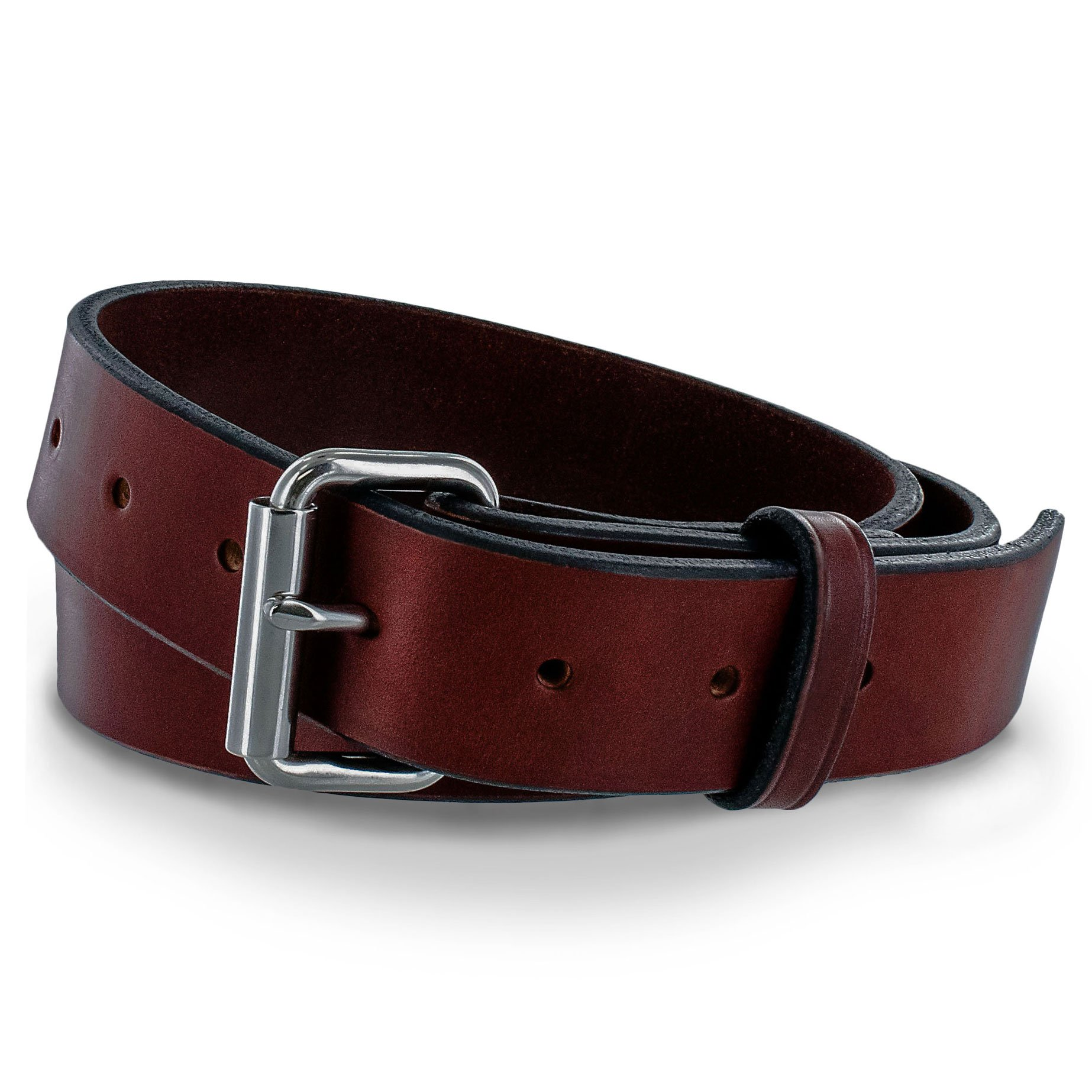 Hanks Gunner - USA Made Concealed Carry CCW Leather Gun Belt - 100 Year Warranty - 14 Ounce - Chestnut - 52 by Hanks Belts