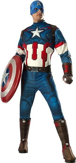 Avengers 4 Deluxe Captain America Costume /& Mask Adult Costume Rubies Mens Marvel