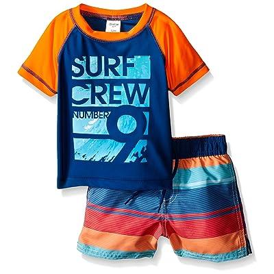OshKosh B'Gosh Osh Kosh Baby Boys' Surf Crew Short Sleeve Rash Guard Set