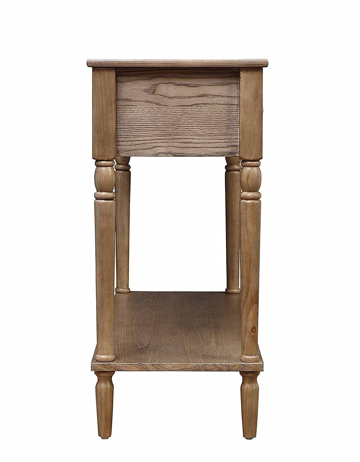 Convenience Concepts French Country 2-Drawer Hall Table Black