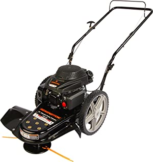 Remington RM1159 159cc 4-Cycle Gas Powered Walk-Behind High-Wheeled String Trimmer - 22-Inch Trimming Mower for Lawn Care, Black