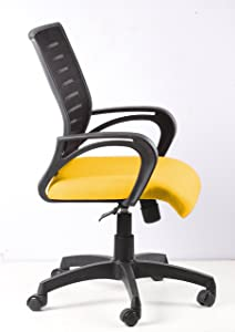 SEAT CHACHA Boom Mesh Back Series ( Yellow Seat With Nylon Base )
