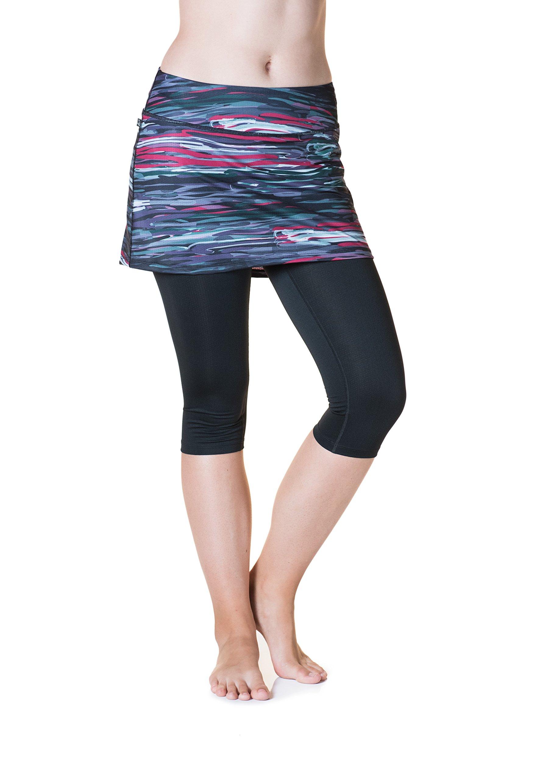 Skirt Sports Women's Lotta Breeze Capri Skirt, Romance Print/Black, Medium