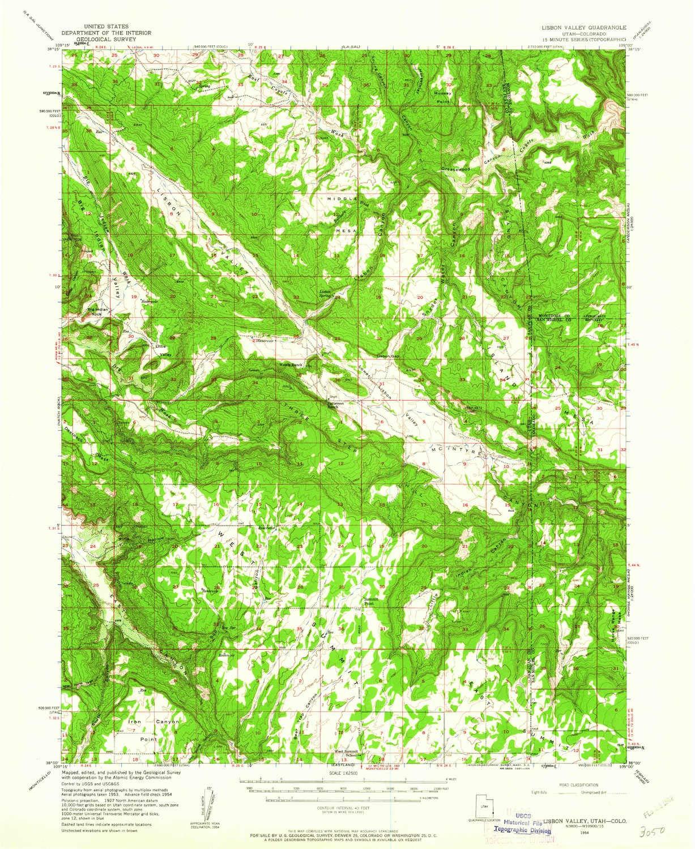 Amazon.com : YellowMaps Lisbon Valley UT topo map, 1:62500 ... on 15 freeway map, i 15 california map, i 15 idaho map, i-15 south map, i 15 mile marker map,