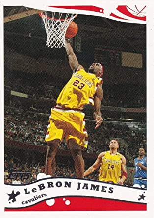 2006 Topps Basketball Series Mint Card #200 Picturing This Miami Heat Superstar in His Yellow Cleveland Cavaliers Jersey M Mint Lebron James 2005