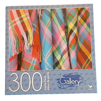 Gallery Jigsaw Puzzle - Colorful Blankets 300 Pieces: Toys & Games