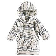 Hudson Baby Unisex Baby Plush Animal Face Robe, Aztec, One Size