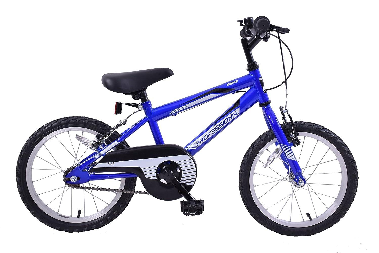 Professional Chaos 16 Wheel Mountain Bike Boys Blue 5 8 Years
