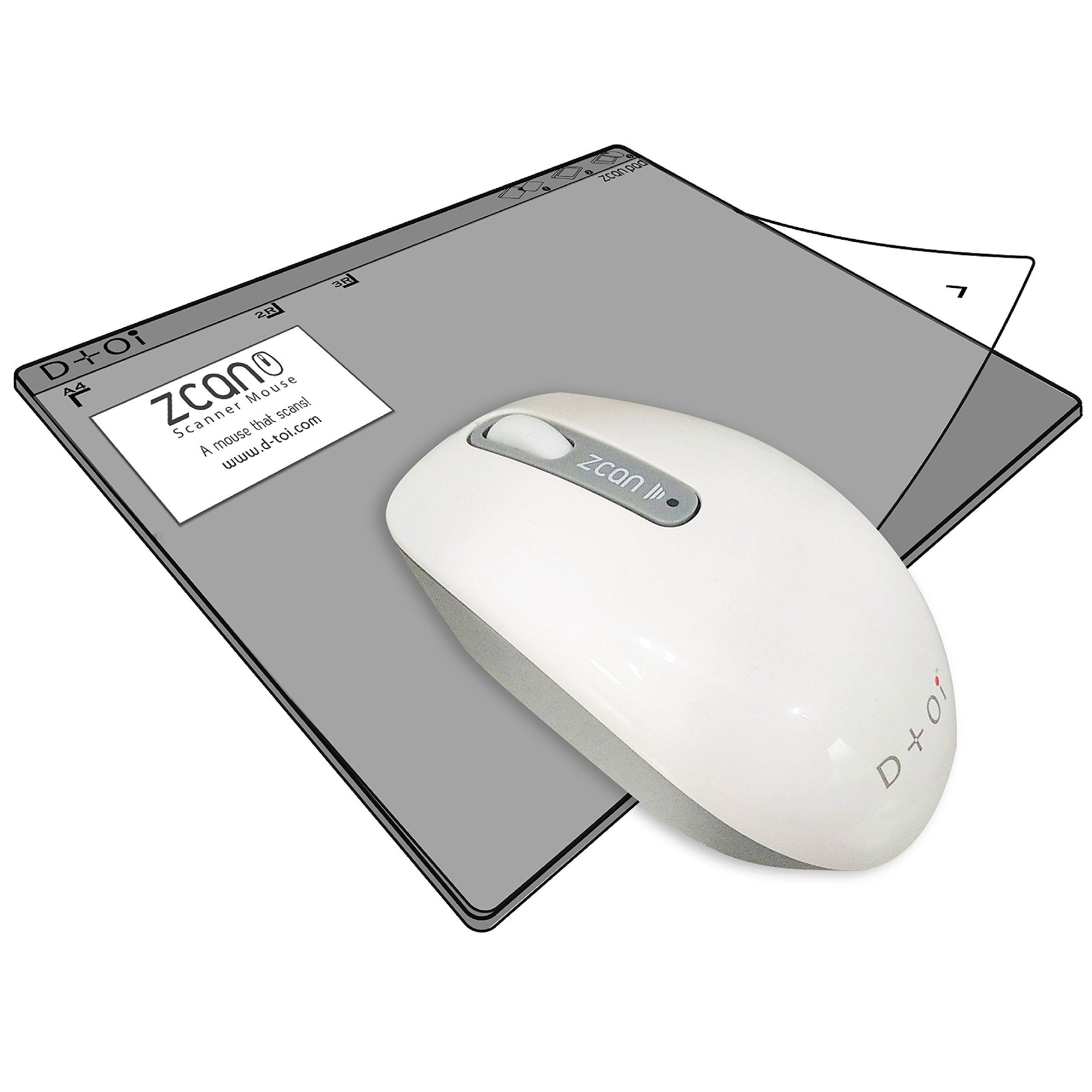 Zcan Wireless Scanner Mouse n A4 Scan Pad Set/ Editable in Word Excel/ Read loud or Google Translate scanned document on iPhone iPad / Mac or Win compatible