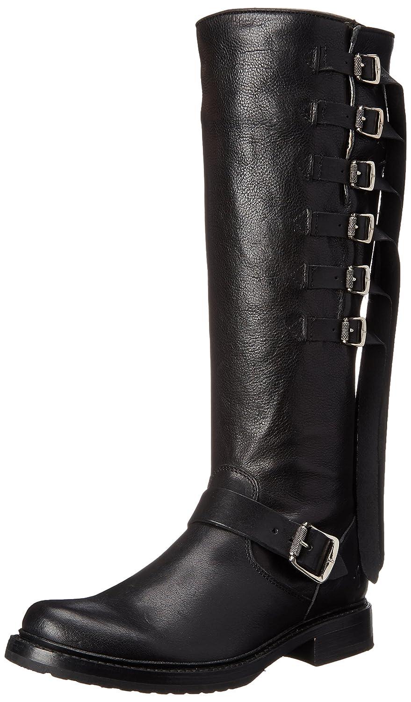 FRYE Women's Veronica Strap Tall-TUFG Engineer Boot B00R54UIAQ 7.5 B(M) US|Black-78560