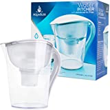 AquaBliss 10-Cup Water Filter Pitcher w/Longest Lasting Advanced XL Water Purification Filter – Filtered Water Pitcher Removes Harmful Contaminants Chlorine Metals & Sediments for Clean Tasting Water