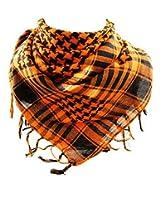 *** PROMOTION *** Foulard Palestinien - Keffieh - Chèche - Pashmina - Orange et Noir