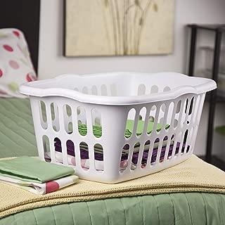 product image for Sterilite 12458012 1.5 Bushel/53 Liter Rectangular Laundry Basket, White (Pack of 12)