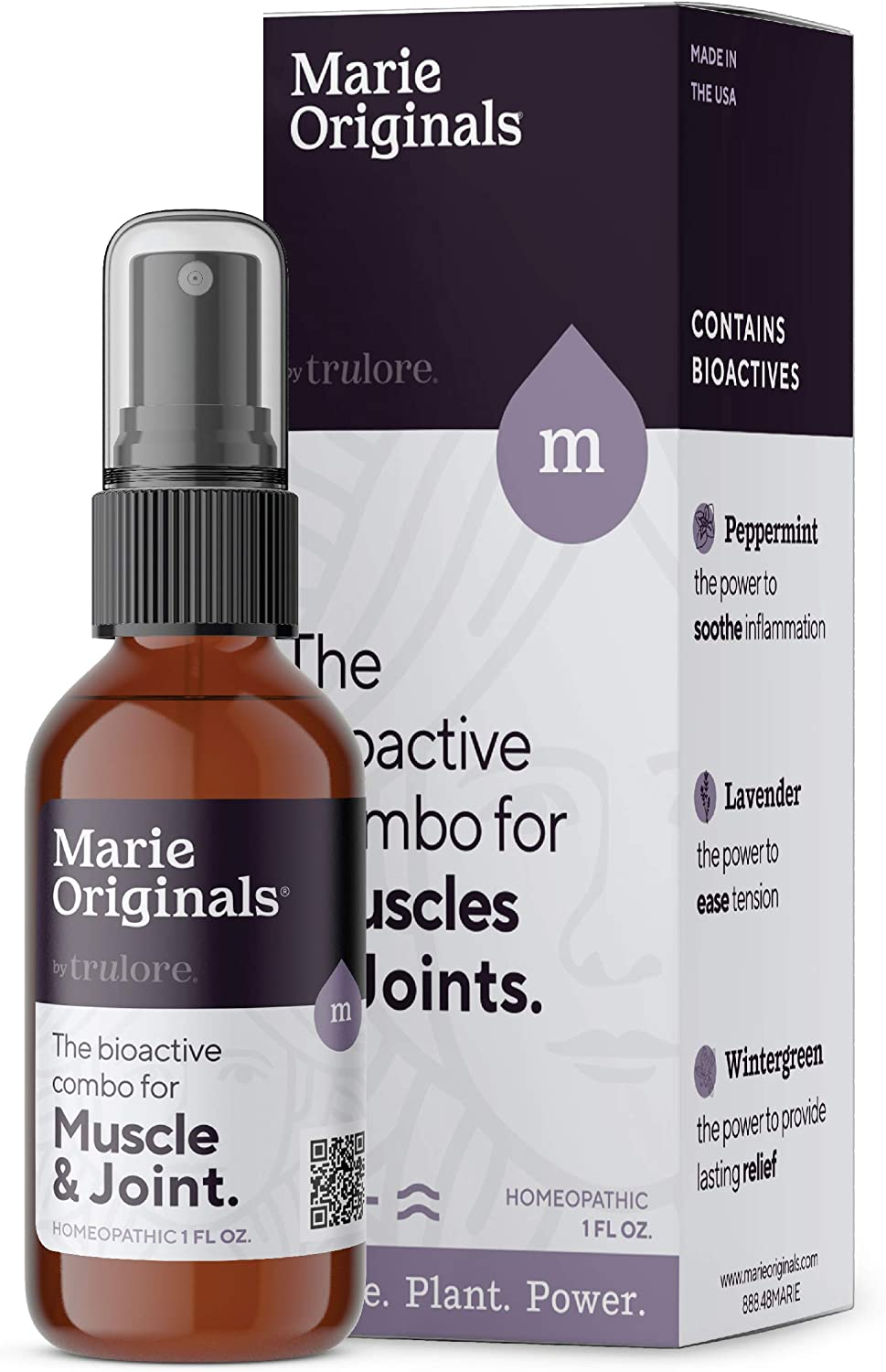 Marie Originals All Natural Muscle and Joint Rub, Alleviates Ache and Sore Muscles, Soothes and Calms Pain and Discomfort. Essential Oil Blend with Juniper, Peppermint, Lavender and Wintergreen