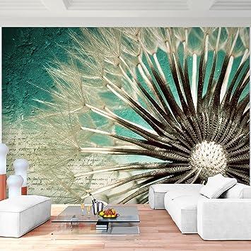 Fototapeten Blumen Pusteblume Vintage 352 X 250 Cm   Vlies Wand Tapete  Wohnzimmer Schlafzimmer Büro Flur
