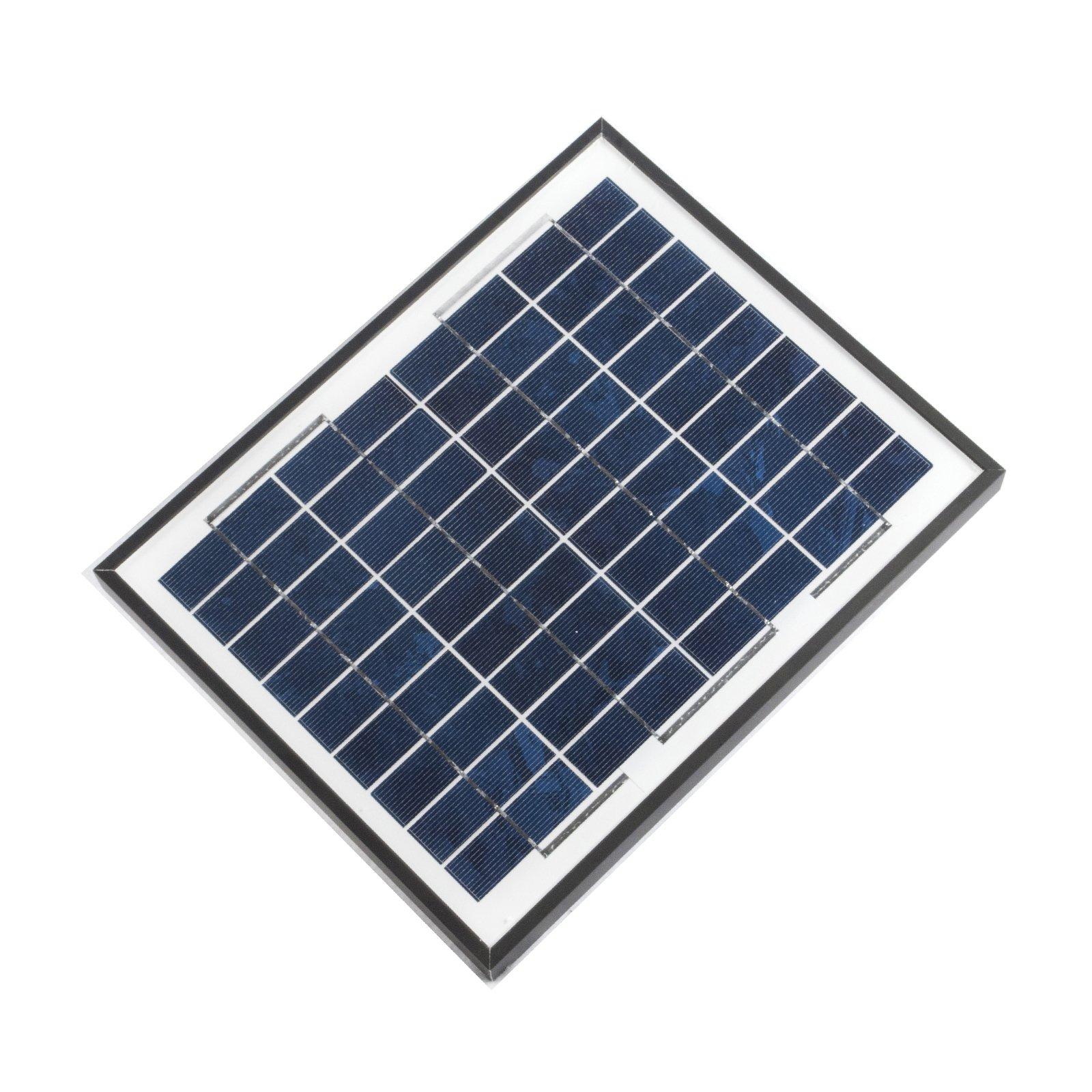 ALEKO SP10W12VP 10 Watt 12 Volt Polycrystalline Solar Panel for Gate Opener Pool Garden Driveway