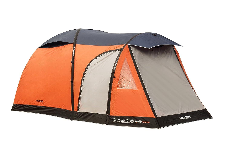 4 Personen, aufblasbar, Orange, Freizeit, Camping Zelt mit Qwik ...