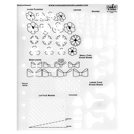 Amazon Com Cake Sketching Template Elements V 2 0 By Cake Cookie