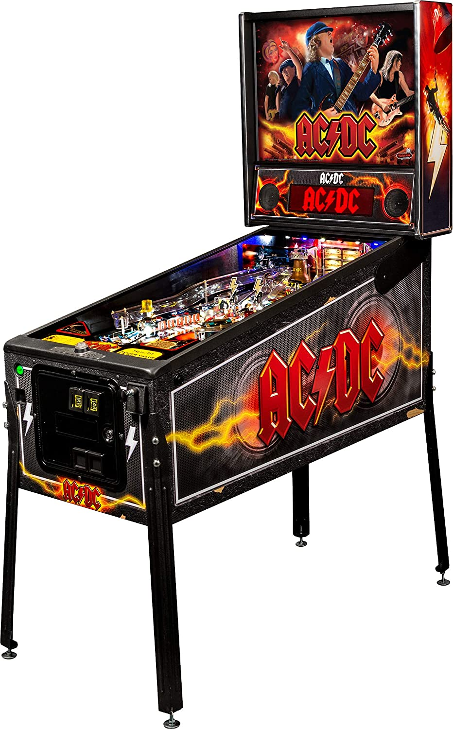 Amazon com stern pinball ac dc led pro arcade pinball machine sports outdoors