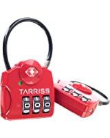 TSA Lock w/ SearchAlert Red by Tarriss, 2 Pack TSA Luggage Locks /