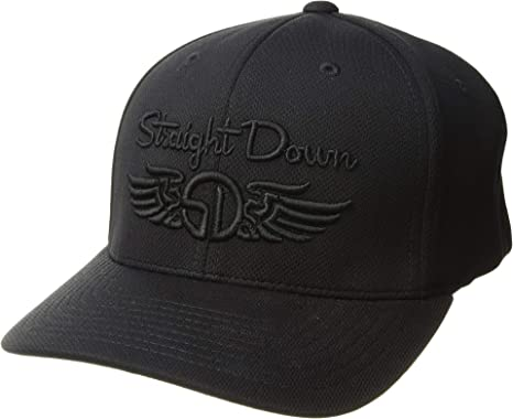 0654e6be Image Unavailable. Image not available for. Color: Straight Down Unisex Logo  Hat Black ...