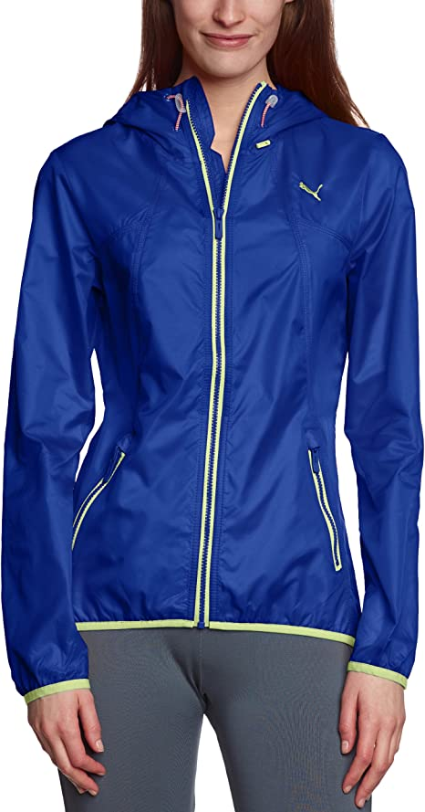 PUMA Damen Windjacke ActivePack, clematis blue sharp green