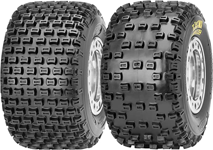 Position: Front//Rear Duro HF277 Thrasher Tire Tire Type: ATV//UTV Rim Size: 7 Tire Application: All-Terrain 31-27707-198A by Duro Tire Ply: 2 Front//Rear Tire Size: 19x8x7 19x8x7