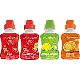 SodaStream Sirap 4-pack med cola-, apelsin-, citron-lime, cola-apelsinsmak (4 x 500 ml)