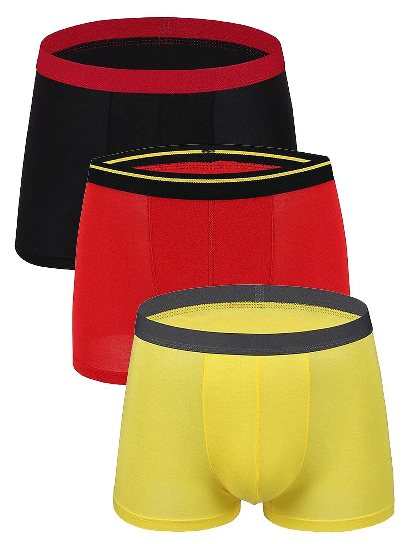 WANYING Men's Basic Modal Fibre Boxer Briefs Trunks Thin & Soft & Breathable Underwear for Men - Blue