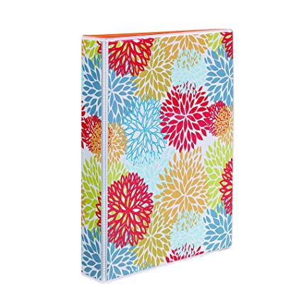 Avery 5-1/2 x 8-1/2 Inches Mini Durable Style Binder with 1-Inch Round Rings, Bright Floral (18447)