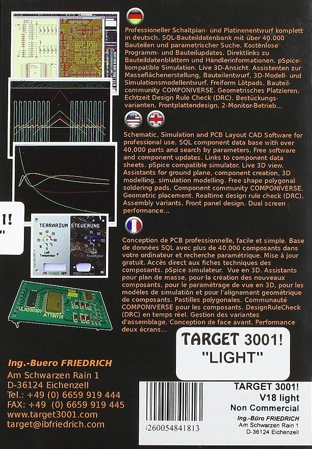TARGET 3001! Leiterplatten Layout CAD V18 Light: Amazon.de: Software