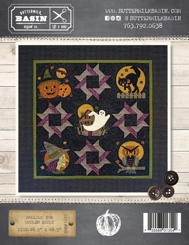 Amazon.com Hallows Eve Halloween Woolen Quilt Pattern , by