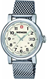 Wenger Urban Classic womens quartz Watch with silver Dial analogue Display and silver stainless steel Bracelet