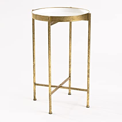 InnerSpace Luxury Products Gild Pop Up Tray Table Large White