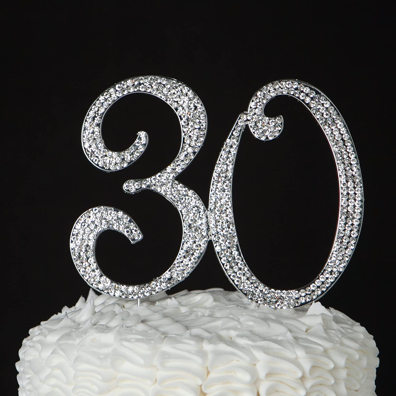 Amazon Ella Celebration 30 Cake Topper For 30th Birthday Or