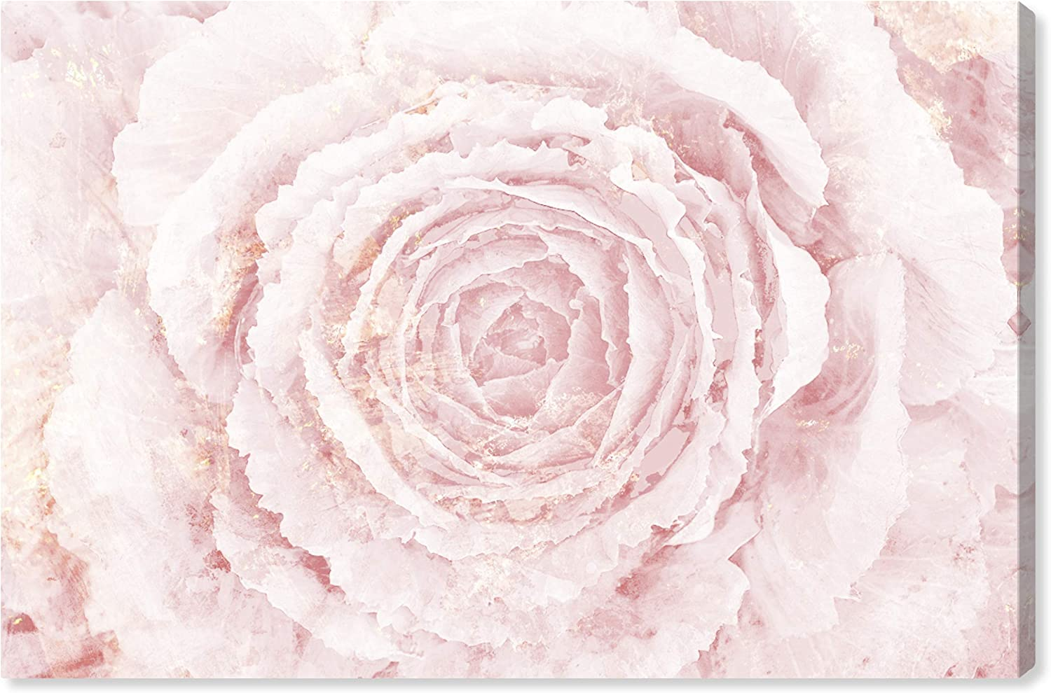 """The Oliver Gal Artist Co. Floral Wall Art Canvas Prints 'Blush Winter Flower Home Décor, 45"""" x 30"""", Pink, Gold"""