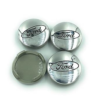 Protrex UK ® Tapacubos de Aleación Plateada para Ford 54 mm. Recambios para 6M21-