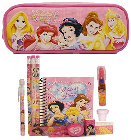 1ae41fa71b8 Amazon.com   Disney Princess Pencil Case and Stationery Set - Pink   Office  Products