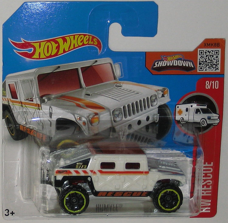 Tienda de moda y compras online. HUMVEE Hot Wheels 2016 HW HW HW Rescue Series White Hummer 1:64 Scale Collectible Die Cast Metal Toy Car Model 8/10 on International Short Card  opciones a bajo precio