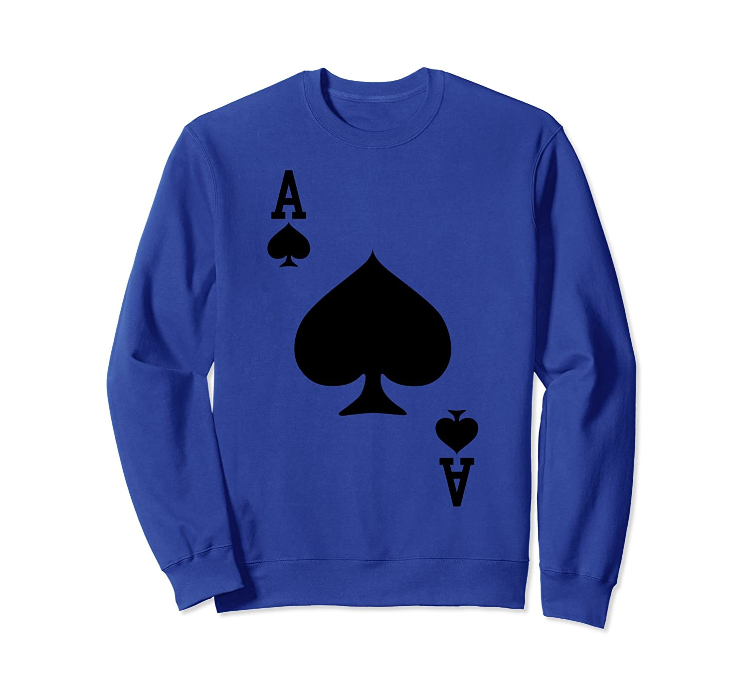 Ace of Spades - Playing Card Halloween Costume Sweatshirt-mt
