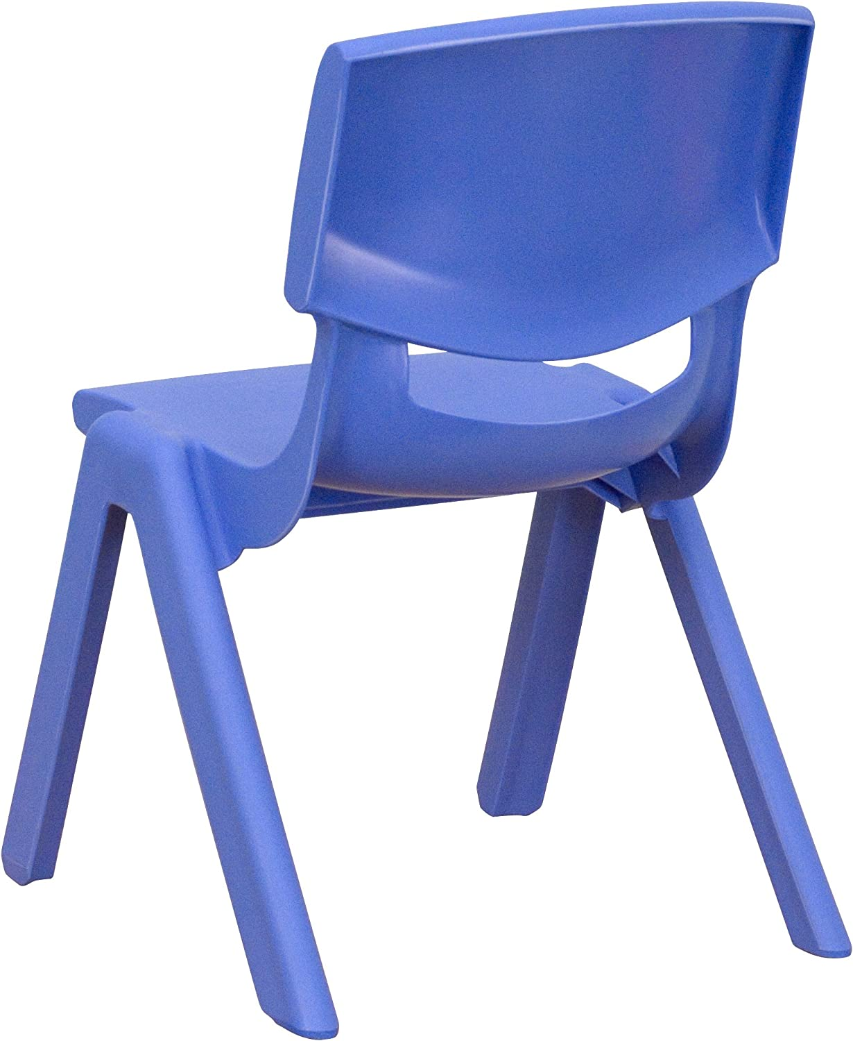 Flash Furniture Plastic Stackable School Chair with 10.5 Seat Height 2 Pack Blue