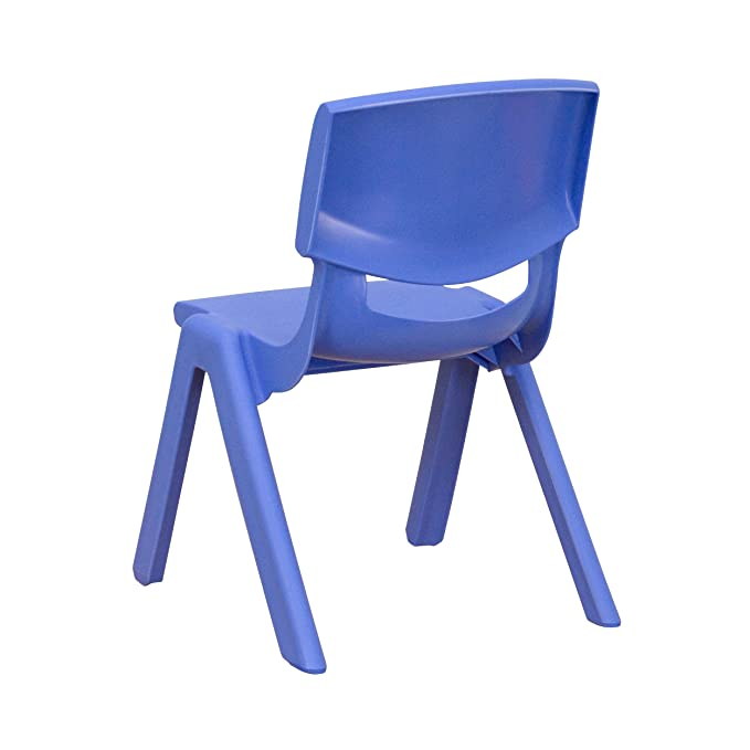 Amazon.com: Silla de escuela de plástico apilable de color ...