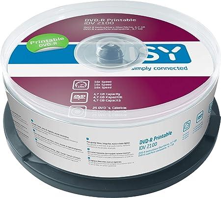 ISY IDV 2100 DVD-R 4.7 - Pack de 25: Amazon.es: Electrónica