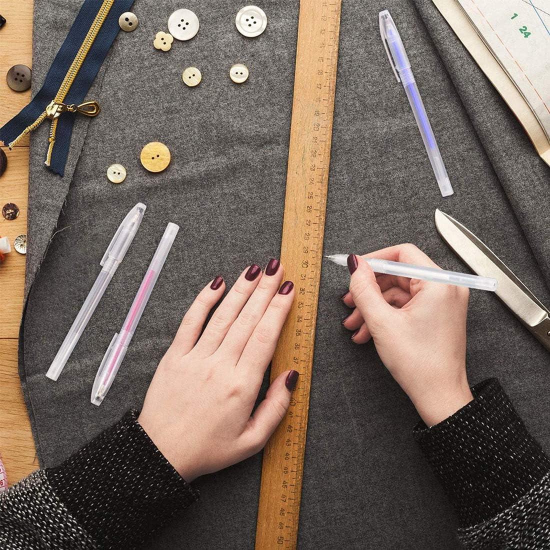 16 penne cancellabili per marcatura Ruiyiqi 4 colori trapuntatura e sartoria include 12 ricariche per penne per cucito penne cancellabili a caldo