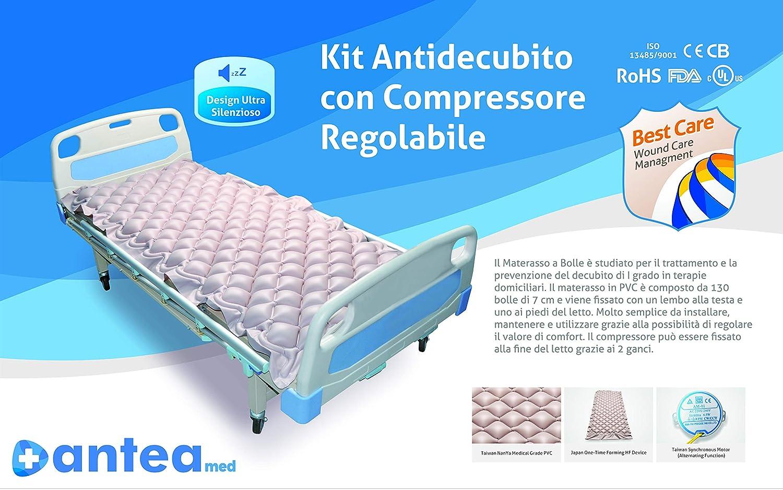 Kit Antiescaras AnteaMed Colchón de aire y bomba con regulación: Amazon.es: Salud y cuidado personal