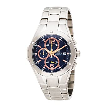 Amazon.com: Festina hombre F6798/5 Big Eye Chrono Acero ...